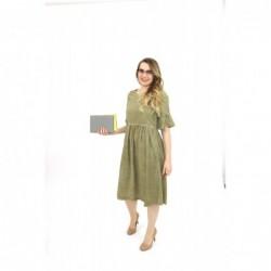 Judy Olive Dress