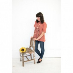 Sunset Embroidered Top