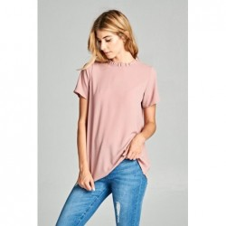Annabelle Top With Ruffle Neck