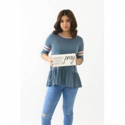 Annie Top Blue Stripe Sleve